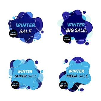 Di banner di vendita invernale