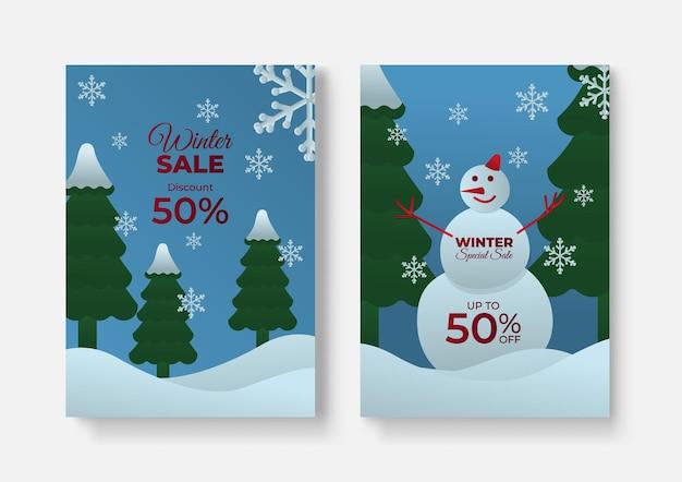 Sfondo di design copertina saldi invernali