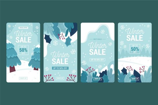 Storie di instagram di vendita invernale