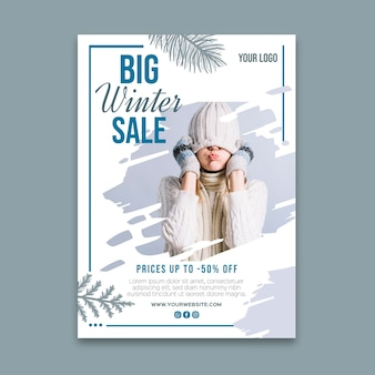 Modello di poster di vendita invernale