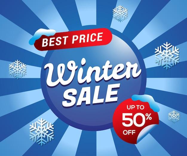 Sfondo di offerta speciale di vendita invernale