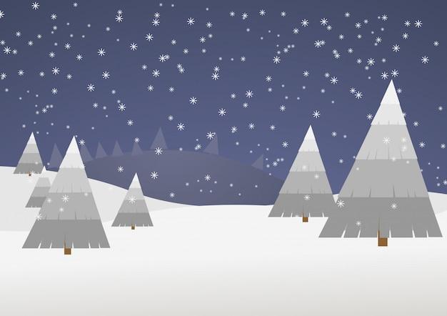 Vettore di scena invernale
