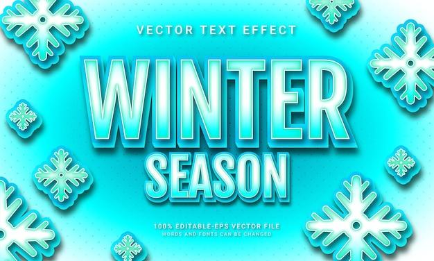 Stagione invernale 3d effetto stile testo a tema era glaciale
