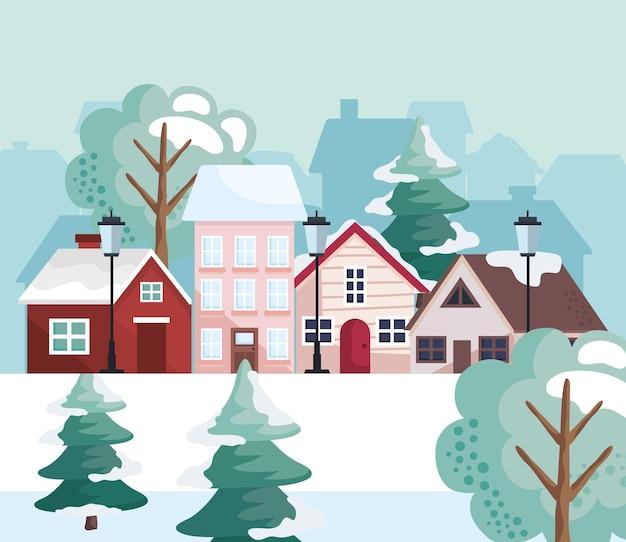 Paesaggio di stagione invernale