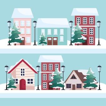 Scene della stagione invernale