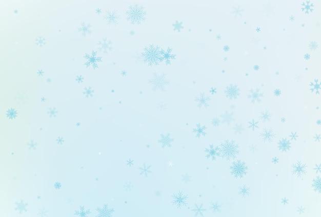 Sfondo di neve invernale. vettore di fiocco di neve che cade