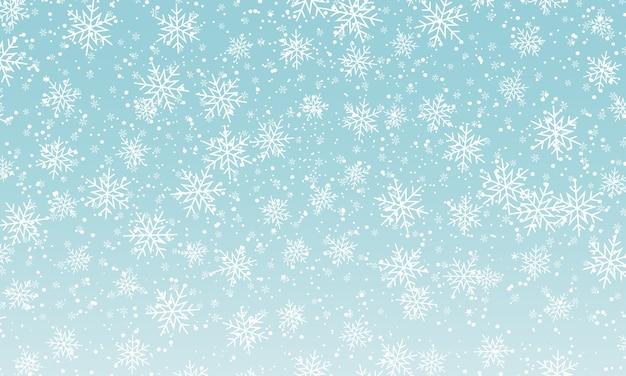 Sfondo di neve invernale. cielo nevoso. sfondo di natale. neve che cade.