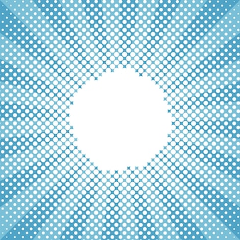 Motivo a mezzitoni blu a raggi di sole tondo neve invernale