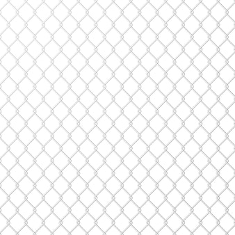Rete metallica in acciaio metallo su sfondo bianco.