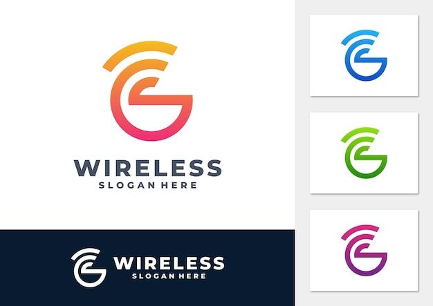 Vettore del logo del gradiente del segnale wireless
