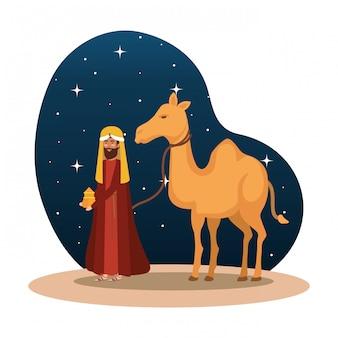 Re saggio con personaggio di cammello