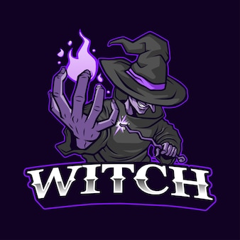 L'illustrazione del logo della mascotte della strega