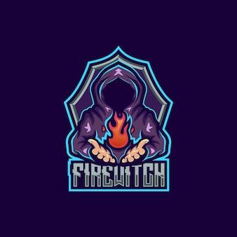 Logo mascotte strega