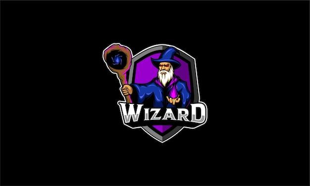 Emblema del logo esport wizard