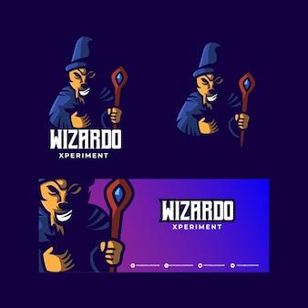 Logo della mascotte di wizard esport
