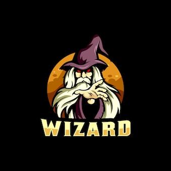 Illustrazione di logo di esports del mago