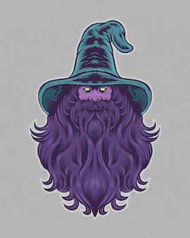 Illustrazione guidata che indossa un cappello