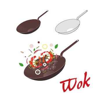 Illustrazione di wok