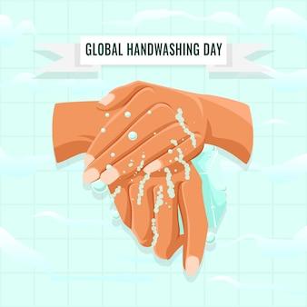 Concetto di giornata mondiale del lavaggio delle mani