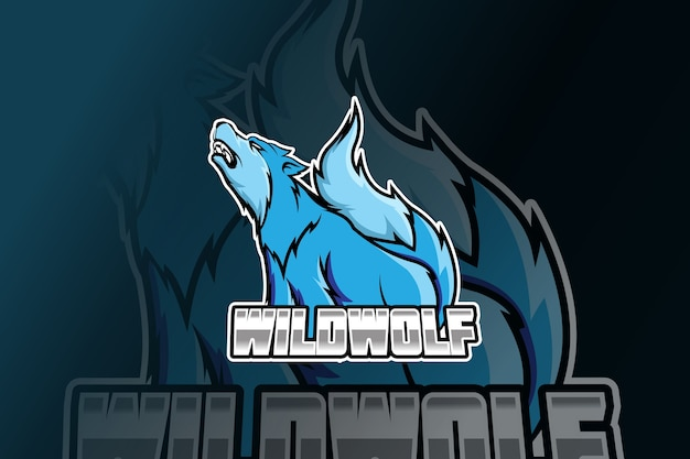Design del logo wolf esport