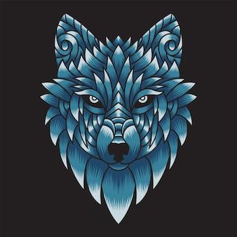 Illustrazione di testa di lupo