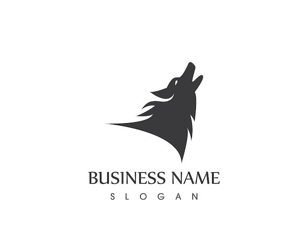Modello di progettazione logo testa di lupo