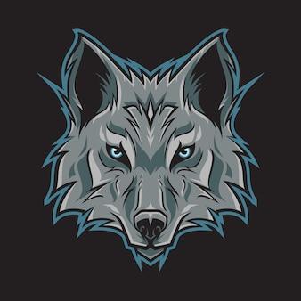 Testa di lupo logo illustrazione