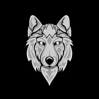 Illustrazione di lupo Vettore Premium