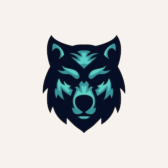 Modello logo wolf