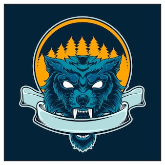 Lupo blu naturale