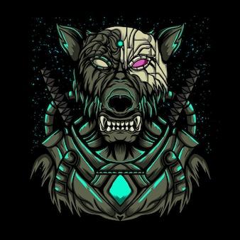 Illustrazione della galassia del ranger del lupo