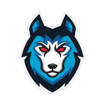 Concetto di gioco logo sport lupo