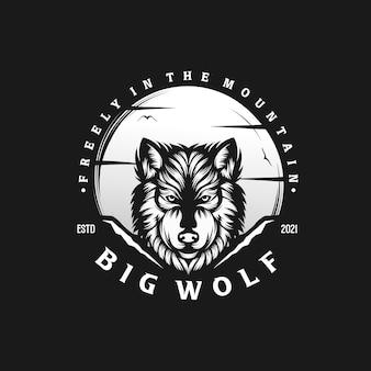 Illustrazione vettoriale di lupo