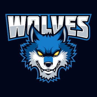 Wolves segno e simbolo vettoriale logo