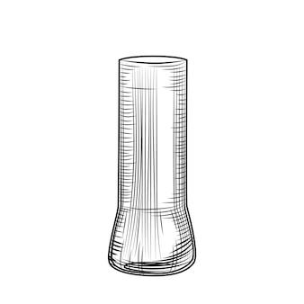 Bicchiere da birra donna. stile di incisione. illustrazione vettoriale disegnata a mano isolata su sfondo bianco