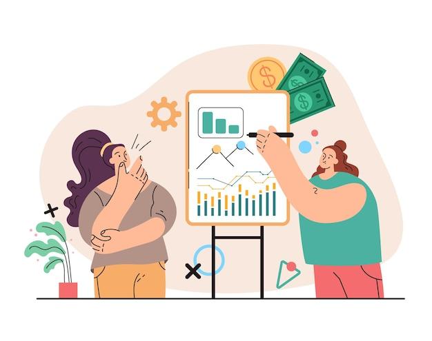 Consulente aziendale finanziario personaggio donna character