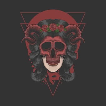 Maschera demone donna per la tua azienda o marchio