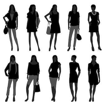 Modello di acquisto di moda donna ragazza femminile.