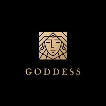 Illustrazione dell'icona di logo della dea della donna