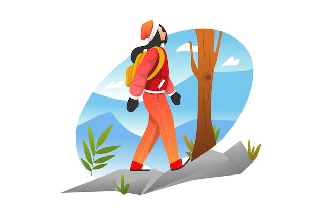Donna escursionismo