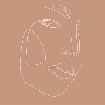 Fondo del modello del ritratto del lineart della donna. opere d'arte di annegamento per poster di un negozio di bellezza, carta del centro di cosmetologia, t-shirt peint, volantino per feste per ragazze, ecc.