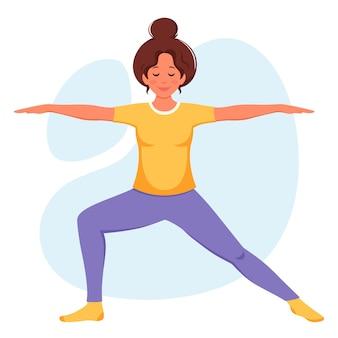 Donna che pratica yoga stile di vita sano relax meditazione