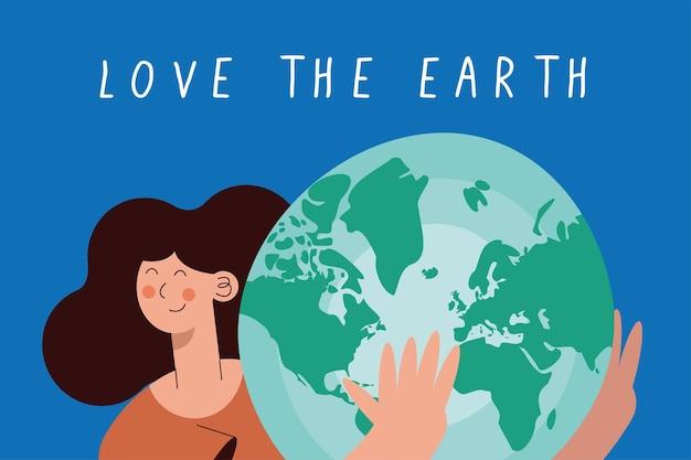 Donna che protegge il pianeta terra
