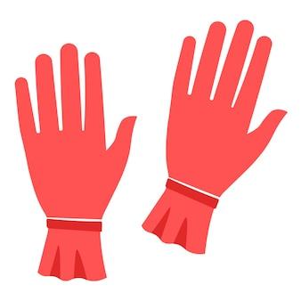 Guanti rossi da donna per la stagione autunnale o invernale