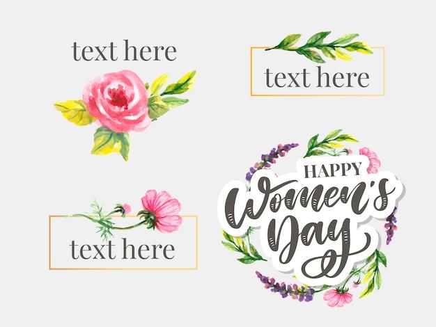 Progettazione del testo di festa della donna con i fiori