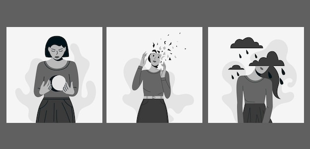 La donna soffre di vari disturbi mentali insieme