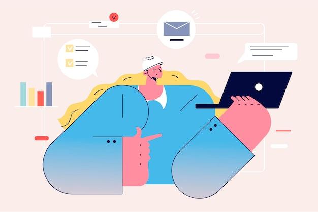 Donne architette e concetto di lavoro online.