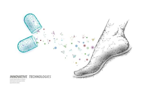 Trattamento farmacologico per la malattia della pelle del piede delle donne. pillola per alleviare il dolore all'articolazione della caviglia