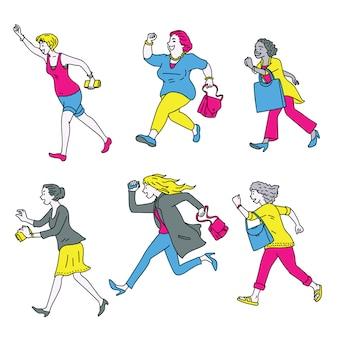 Le donne vanno a fare shopping