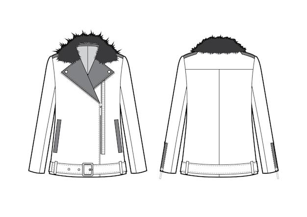 Giacca da moto da donna con pelliccia
